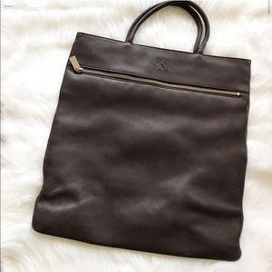 CK Calvin Klein Vintage Leather Brown Bag Purse